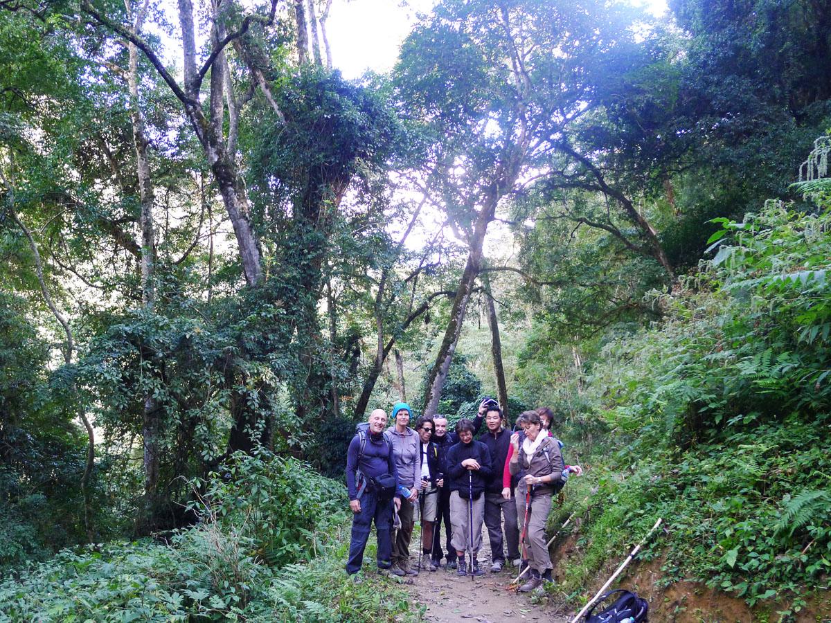 Bhutan_Gruppe im Wald