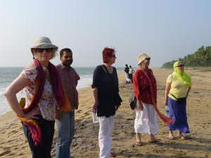 4 Gruppe am Strand