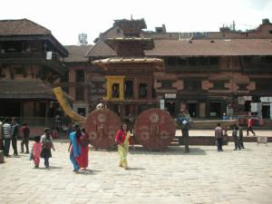 Tempelwagen in Bhaktapur