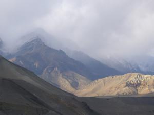 Mustanglandschaft im Nepbel